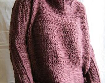 Handmade crochet sweater for women