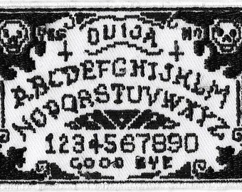 Ouija Board Embroidered Patch, Iron-On Applique, Spirit World, Occult, Goth, Retro