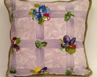 Lavender and Sage Floral Throw Pillows