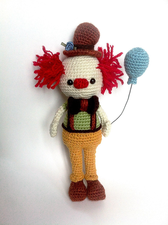 Crochet Amigurumi Collection : Crochet Amigurumi Clown / Crochet Clown Doll / by EclecticJ