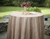 Champagne Sequin Glitz Tablecloth