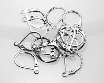 Stainless Steel Lever Back Earring Wires (B5-2)