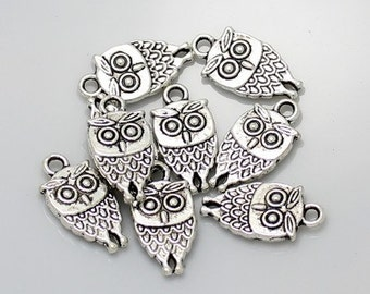 20pcs--Owl Charms, 10x18mm (B14-11)