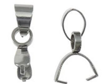 6-24pcs--Stainless Steel, Pinch Bail, 2.5x9mm (B25-6)