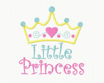 Baby Girl Embroidery Design Machine Applique, Little Princess Applique, Cute Embroidery Kids Baby Girl, 4X4 5X7 6x10