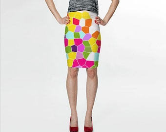 Pencil Skirt, Colorful Skirt, Printed Skirt, Girls Skirts, Yellow Skirt, Orange Skirt, White Skirt, Pink Knee Length Skirt, Womens Skirts