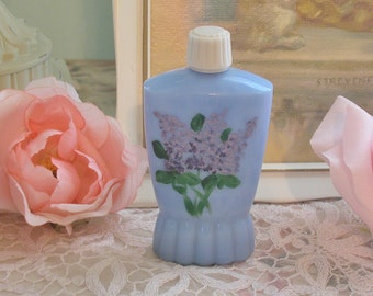 Made In England, Blue Glass Bottle, Perfume Bottle, Cottage, Vanity, Collectible
