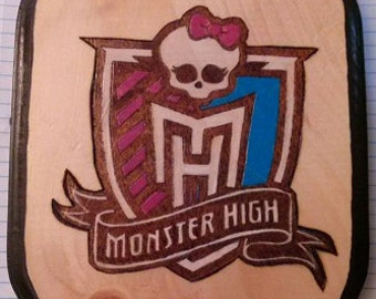 Monster High Logo Wood Plaque