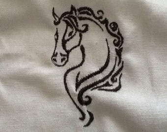 Horse machine embroidery design for 4 x 4 hoop