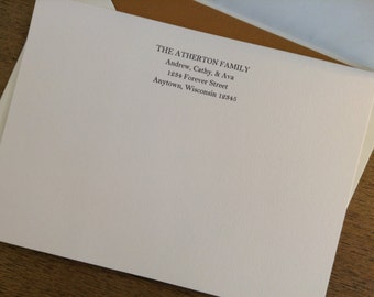 Personalized Family Flat Cards - 5x7