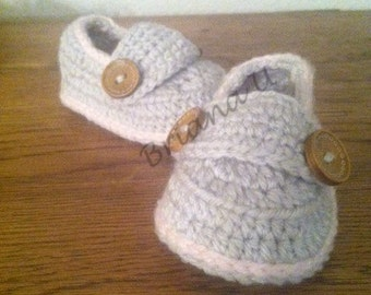 Buttoned Baby Booties