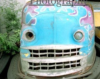 Stephanie Petersen Photography Keansburg New Jersey Boardwalk HOTROD BUMPER CAR dreamy color print
