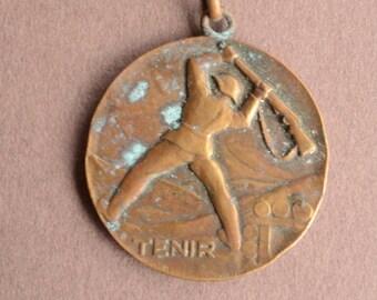 """Vintage collector medal """"held"""" active service 1930-1940 Bat.fr.fus.211"""
