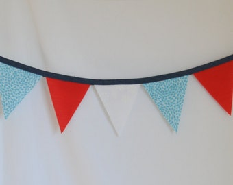 Red, White, and Blue Pennant Bunting Banner Perfect for Photo Prop or Room Decor