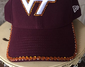 Virginia Tech bling hat
