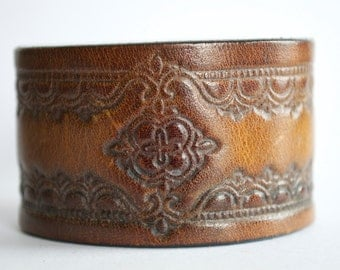 Leather Cuff Made from Recycled Belt
