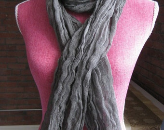 Pure linen scarf