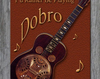 Mouse Pad - I'd Rather Be Playing Dobro