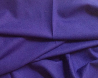 Deep Purple Wool Crepe Fabric -  2 Pieces of Fabric