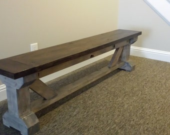 Farmhouse Rustic Bench