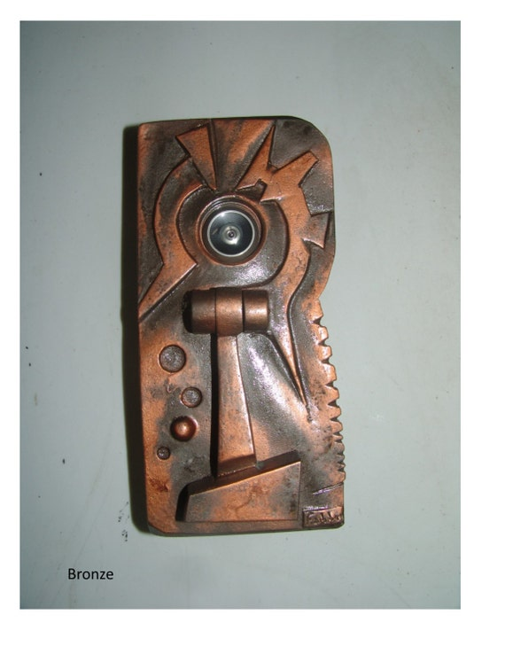 Distinguished peephole door knocker by fabbricreations on etsy - Door knocker with peep hole ...