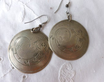 Large gecko earrings