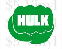 Hulk, Vinyl XS-SMALL Car Decal, Shield, Marvel, Marvel Stickers, Incredible Hulk, Captain America, Ironman, Avengers, Hulk Window Decal