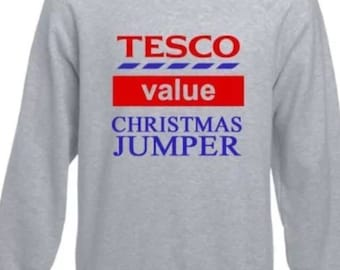 Tesco value christmas jumper funny great for xmas jumper day
