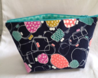 "SALE ! Cosmetic Bag 10"" X 6"" , 4"" wide"