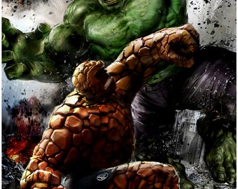 Hulk vs. The Thing on Yancy Street