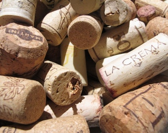 Corks 250 pcs for creative purposes - cork, synthetic, various sizes