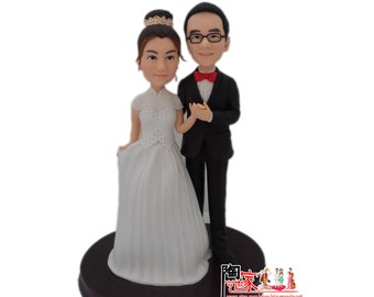 Custom Figurines  wedding cake topper, Bride and groom cake topper, personalized cake topper, Mr n Mrs cake topper, custom cake topper,