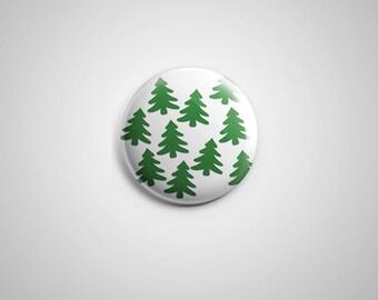 "PCS-PIN-002 - Xmas tree Pinback button - 1.75""-Perfcase"