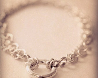Sterling Silver Multiple Chain Bracelet with trigger clasp