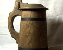 Groomsmem Wooden Beer Mug 0.7 l (23oz). Made for an awesome gift!