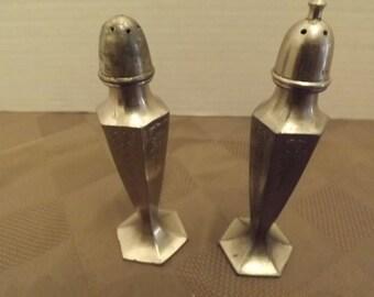 Stainless Steel Salt & Pepper Shakers - Marked