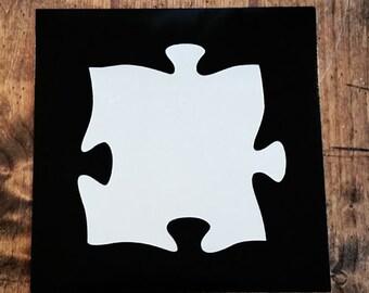 Puzzle Piece Mirror, Puzzle Piece Wall Decal, Wall Decal Mirror, Puzzle Piece, Puzzles, Mirror, Wall Stickers