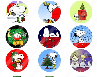 Snoopy Christmas Digital Collage Sheet 8 5x11 2 Inches For