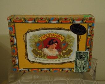 Cuesta rey wood cigar box