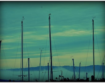 Sailboats, Mystical, Outdoor Photography,  Hudson Valley, Nature Photography