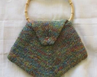 Hand knitted Shiny diamond handbag