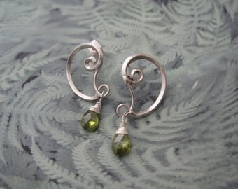 contemporary style spiral form earrings