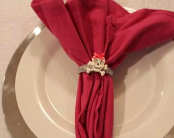 Pink Skull Napkin Ring