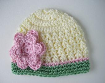 Crochet Baby Hat, Baby Girl Hat, Newborn Beanie, Baby Girl, Baby Newborn Hat, Baby Girl Beanie, Newborn Baby Hat, Crochet Hat, Newborn Prop