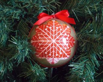 """Decoupage Christmas ball-Christmas bauble """"Snowflake"""""""