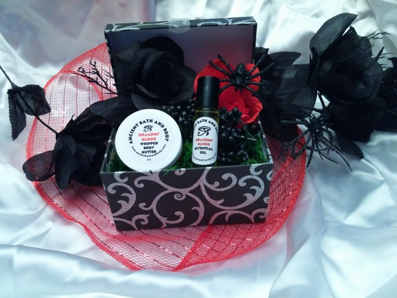 Gothic Gift Baskets/Boxes. Contains 1 whipped body butter and