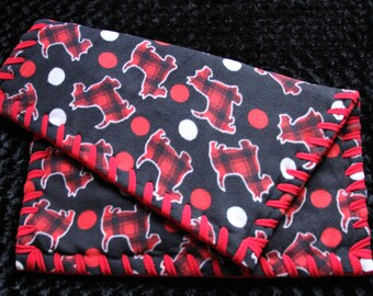 Red and Black Scottie Pet Bed Available in All Sizes