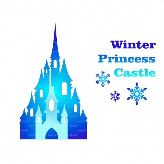 Princess winter snow frozen castle 300 dpi svg by ...