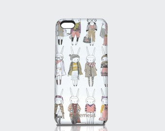 Rabbit Bunny iPhone Case  6s, 6, 6s Plus, 6 Plus, 5s, 5c, 4s Cover, designed by Fifi Lapin.