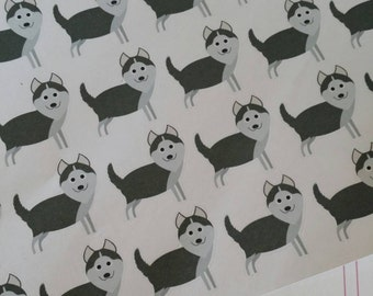 Husky Stickers! Dog Stickers! Perfect for your Erin Condren Life Planner, calendar, Paper Plum, Filofax!